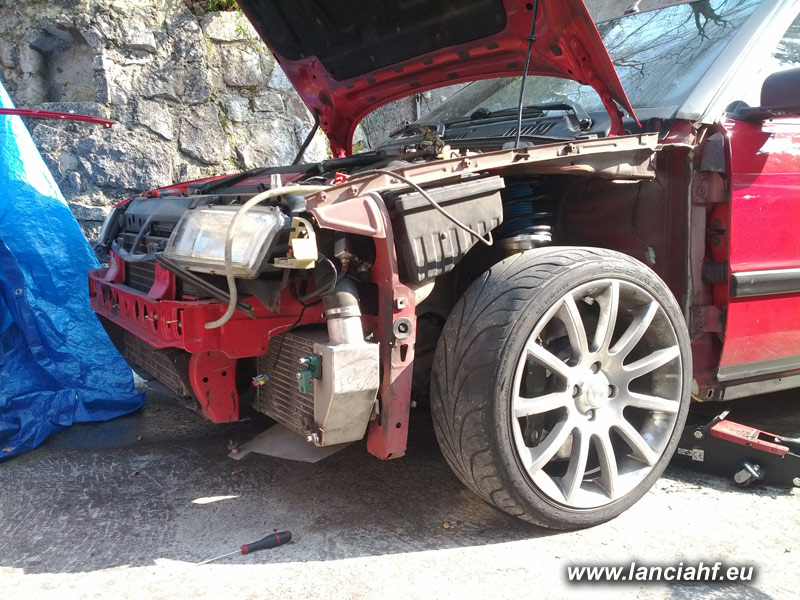 Damage lancia delta turbo